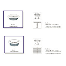 HVAC System Gi Return & Supply Air Disc Valve Air Duct Diffusers