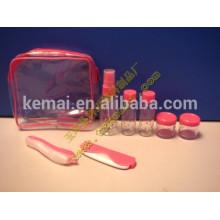 Cuidado personal jarra rosa hotel vacío cosméticos empaquetado viaje conjunto de botellas