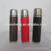 350ml 500ml with differents colors leather vacuum flask
