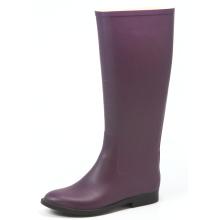 Purple Women Riding  Pattern Rubber Boots