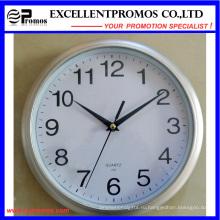 Логотип 10 дюймов круглый пластиковый настенный часы логотип (EP-Item3-серебро)