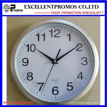 Logo impressão 10 polegadas de plástico em forma de relógio de parede Logo (EP-Item3-prata)