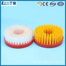 escova redonda de polimento de nylon para remoção de cavacos