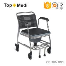 Équipement de sécurité de salle de bain Topmedi Commode avec roues