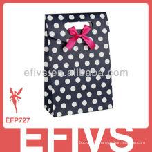 Dark Blue&White Polka Dot gift wrapping bag Handmade