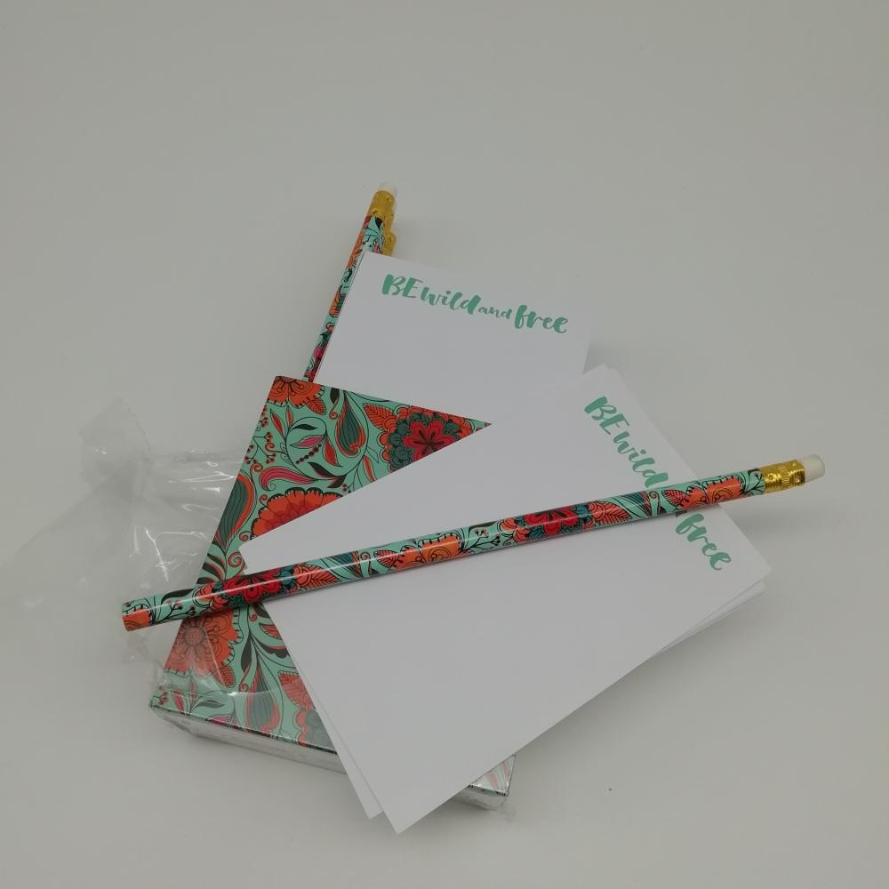 Ecycle Paper Sticky Note Pen With Shrink Wrapping