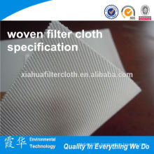polypropylene /PP micron rated woven filter cloth specification