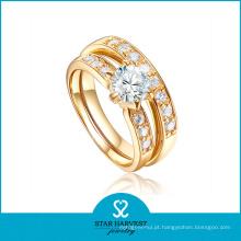 Barato banhado a ouro 925 anel de prata esterlina para decoração (r-0336)