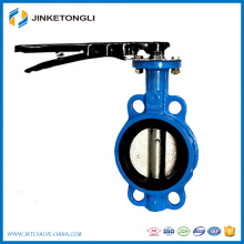 Manual Sanitary Stainless Steel Butterfly Valve Lever operator