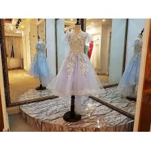 LS00088 boné manga flor menina vestidos organza rendas padrões para 7 anos de idade
