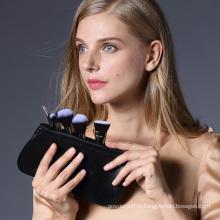 Ensemble de maquillage maquillage portable synthétique haute qualité avec sac à glissière