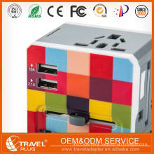 Hot Alibaba Express Mobile Accessories Eu Plug Colorful Durable Dual Usb Travel Charger