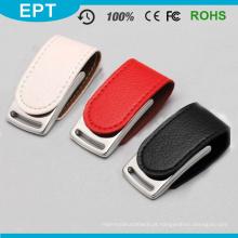 Movimentação de couro por atacado da pena do flash de USB da memória Flash de USB para a amostra grátis