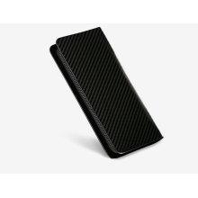 carbon fiber wallet with zipper