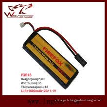 Batterie Li-polymère de airsoft Firefox-1600mAh 11.1V 12C Li-Po