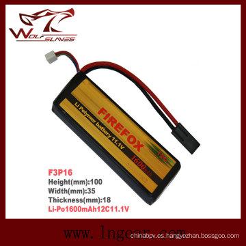 Airsoft Firefox-1600mAh 11.1V c 12 Li-Po batería Li-Polymer