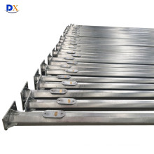 14m Hot Deep Galvanized Octagonal Steel Pole