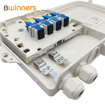 Ftth Fiber Optic Distribution Box Für bis zu 8 Sc Simplex-Adapter