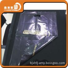 printed logo hdpe shopping black plastic grocery bags