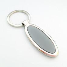 Chaîne porte-clés en métal ronde ovale bon marché promotionnelle avec logo personnalisé (F1189)