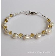 Pulsera de perlas de agua dulce Fanncy baratos (EB1511-1)