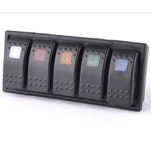 12V- 24V 5 LED Color Bar Rocker Switch Panel Arb Carling with Clip Holder