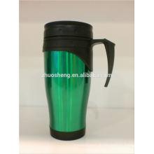 vendas por atacado, caneca de cerâmica Café aço inox dupla caneca de parede café, caneca de café de arma