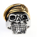 Sterling silver engraved skull ring men