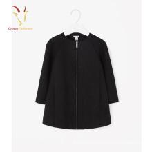 Abrigo de invierno de lana de cachemira de las últimas muchachas del estilo coreano