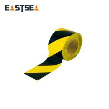 Cinta protectora de precaución de polietileno amarillo y negro o rojo y blanco