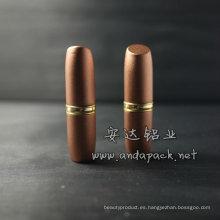 Pipa de aluminio lápiz labial tubo/barra de labios