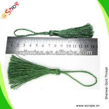 Green polyester tassels