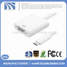 Nouveau USB3.1 USB-C Type C vers VGA Adaptateur DP Mode Alt USB 3.1 type vers vga pour le Nouveau Macbook USB-C