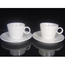 Tazas de café de porcelana con impresión de logotipo