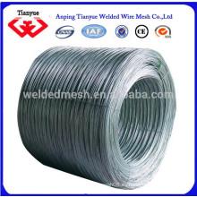 0.7mm-4.0mm electro alambre galvanizado para el alambre que liga de la construcción