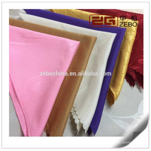 100% полиэстер Различные узоры Жаккардовая ткань Складная салфетка из ткани