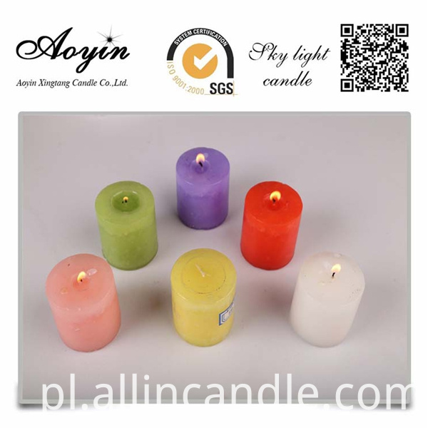 Large Multi-colored Religious Pillar Candle