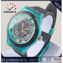 Новый стиль наручные часы силиконовый Браслет часы часы-Скелетоны (ДК-1288)