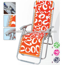 Aluminum tube leisure sun beach lounge chair with canopy in color fabric