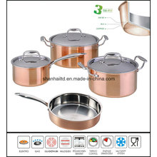 Tri-Ply Copper Clad Stainless Steel Cookware Set
