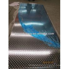 5005 venta caliente de alta calidad placa de aluminio en relieve para la aplicación de techos