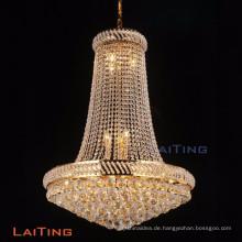 LAITING Dia 90cm Lüster Cristal Vintage-Stil Kronleuchter Gold Foyer Kronleuchter K9 Kristall für Home Deco LT-17899