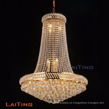 LAITING Dia 90cm Lustre Cristal Vintage Style Chandeliers Gold Foyer Chandelier K9 Crystal for Home Deco LT-17899