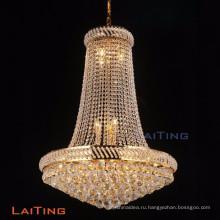 LAITING диам 90см блеск Кристалл винтажный Стиль люстры золото фойе Люстра Кристалл K9 для дома Деко ЛТ-17899