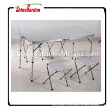 mesa plegable de aluminio portátil y silla
