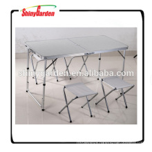 portable folding aluminium table and chair