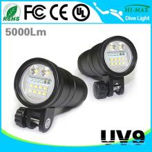 Alta brillo 10000 Lumen Snorkel linterna equipo de buceo UV9