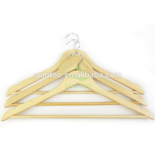 hotsale cheap wood hangers natural clothes hanger wood garland
