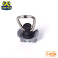 Plastic Base Single Stud Fitting With SS D Ring For Cargo