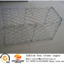 ASTM standard China manufacturer sales 1mx1mx1m hot dip galvanized steel wire woven gabion boxes stone cages
